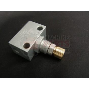 Lantech - Valve Flow Control Inline M5 Aluminum (GR-M5-B) - 000950A