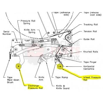 """Bemis - 2"""" PRESSURE ROLLER, TENSION MASTER II. OLD # 167899A, 128889A-1"""