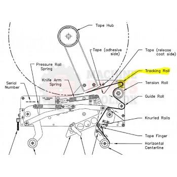 Bemis - TRACKING ROLLER 150187A