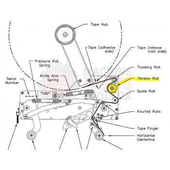 "Bemis - Tension Roller Assembly 2"" LH 151290A"