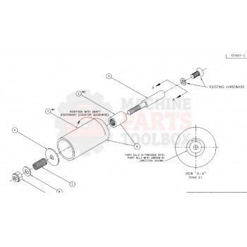 "Tension Roller Assembly 2"" 143774a, 150014A, 0205-0954A"