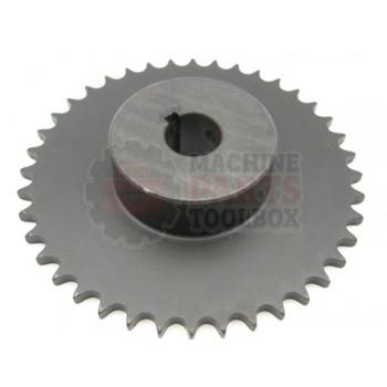 Lantech - Sprocket Metric 4.778 Pitch DIA 40 Tooth 3/4IN Bore W/ 5MM Key 2 Set Screws - 30002056