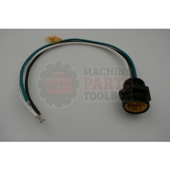Lantech - Receptacle QD Mini 3P Male 600V 13A 1/2IN Thread 12IN Leads 16AWG - # 30137111