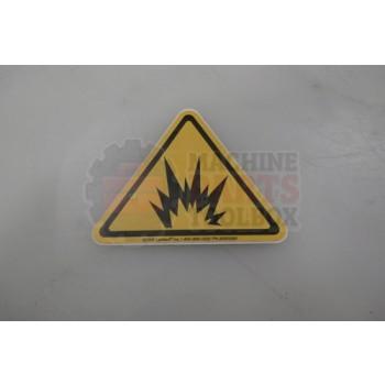 Lantech - Label Regulatory ISO Explosion Hazard - 30500081
