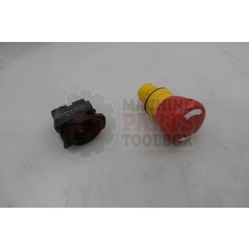 Lantech - Switch Push Button E-Stop Non-Illuminated Mushroom Operator Twist-To-Release 40mm Round Plastic. 1 N.O. 1 N.C. - 31002799