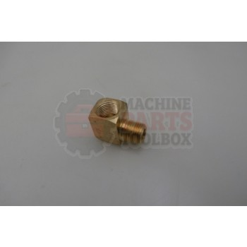 Lantech - Fitting Elbow Street 90 Degree 1/8 NPT Brass - 35000200