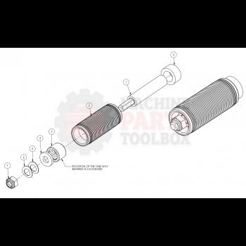 """Dekka - Clutch Roller, Mirrored 3"""" 59-432, Z59-432"""