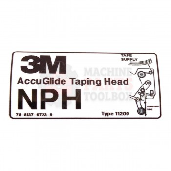 3M - Label - AG NPH Tape Threading Upper - # 78-8137-6723-9