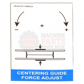 3M -  Label - Force Adjust Centering & Upper - # 78-8137-7405-2