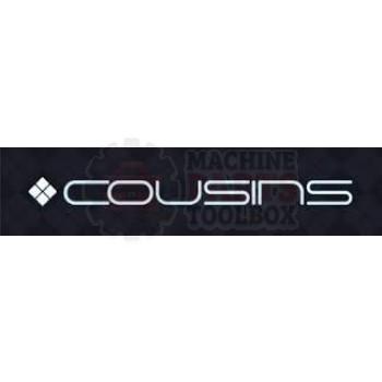 Cousins - Push Button Head Blue Flush Momentary Illuminated - E1946