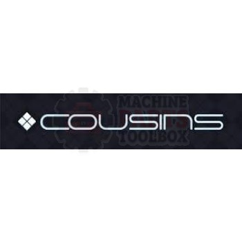 "Cousins - Roller, Alum .75"" DIA x 25"" W/ Bearing 1/4"" Bore. - W386"