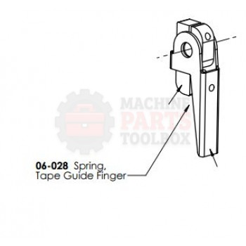 Dekka - Spring, Tape Guide Finger - # 06-028