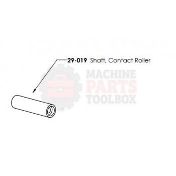 Dekka - Shaft, Contact Roller - # 29-019