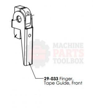 Dekka - Finger Tape Guide - Front - # 29-033