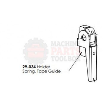 Dekka - Holder Spring - Tape Guide - # 29-034