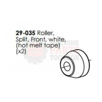 Dekka - Roller Split Front - White - # 29-035