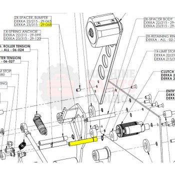 Dekka - Spacer, Bumper, 23 - 29-068, Z29-068 - Tape Head Parts - Machine Parts Toolbox
