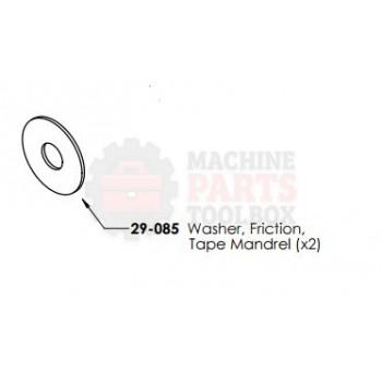 Dekka - Washer, Friction Tape Mandrel - # 29-085