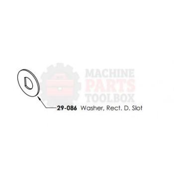 Dekka - Washer, Rect D Slot - # 29-086