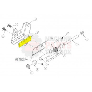 "Dekka - FELT PAD 2"" 29-115, Z29-115 - Tape Head Parts - Machine Parts Toolbox"