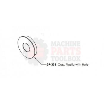 Dekka - Plastic Cap, Tape Mandrel Assembly - # 29-333