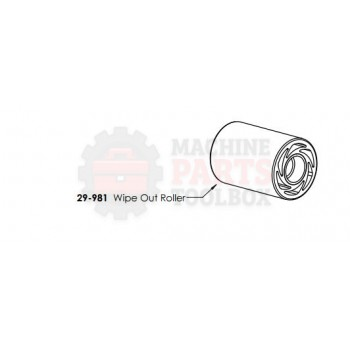 Dekka - Roller, Wipe Out - # 29-981   Use 59-001-M1