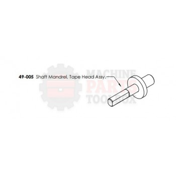 Dekka - Shaft Mandrel, Tape Head Assembly - # 49-005