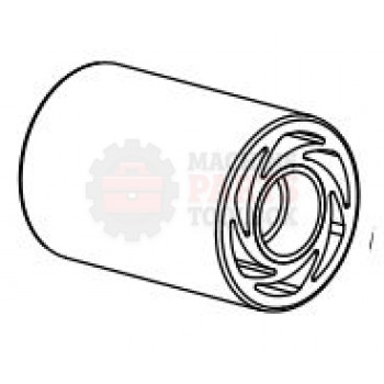 Dekka - Red Contact Roller Assy, Soft Touch # 59-001-M1