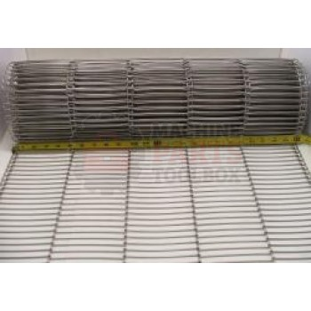 """Eastey - Conveyor Belt - Stainless Steel Wire Mesh - 24"""" Wide - 1/2"""" x .092 - price by the foot"""