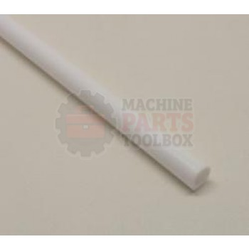 """Eastey - Teflon Tubing - 5/16"""" - White Cover for Conveyor Rollers  (Sold in 100' Coils)"""