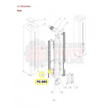 Eagle - Chain Adjustment Screw - # FG-065