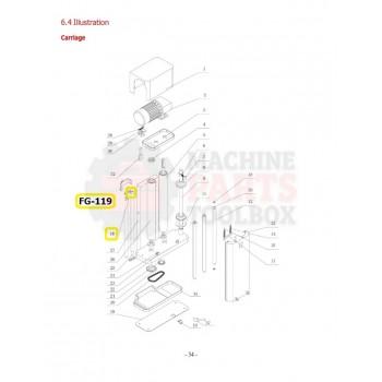 Eagle - Transition Roller Shaft - # FG-119