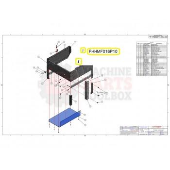 Loveshaw - HEX HD. M5 x 16 - # FHHMF016P10