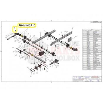 Loveshaw - HEX HD M10x12 LG. PLATED - # FHHMI012P10