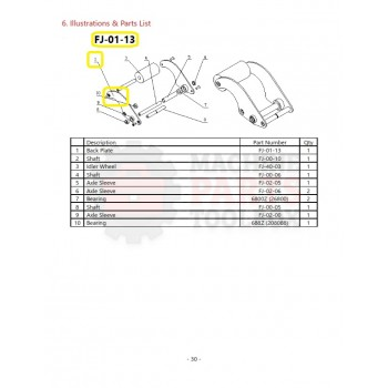 Eagle - Back Plate - # FJ-01-13