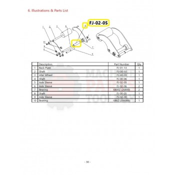 Eagle - Axle Sleeve - # FJ-02-05