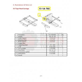 Eagle - Retaining Plate - # FJ-1A-703