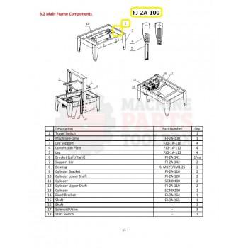 Eagle - Machine Frame - # FJ-2A-100