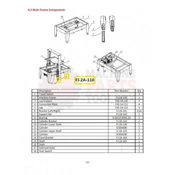 Eagle - Cylinder Bracket - # FJ-2A-110