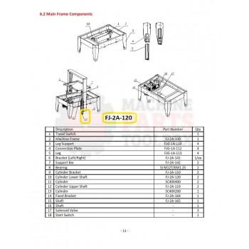 Eagle - Cylinder Lower Shaft - # FJ-2A-120