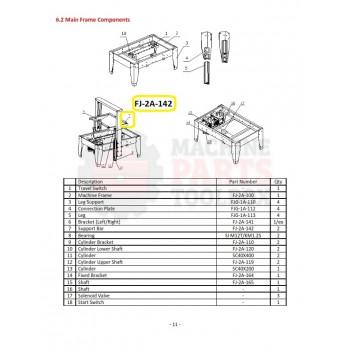 Eagle - Support Bar - # FJ-2A-142