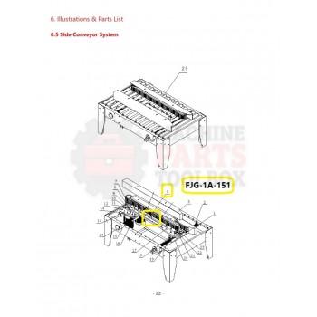 Eagle - Conveyor Support Base - # FJG-1A-151