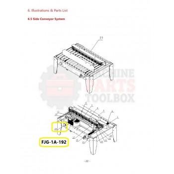 Eagle - Width Adjustment Gear - # FJG-1A-192