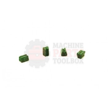 "Eastey - Straight - 1/4"" V Groove - Green Bead- EAST0011"