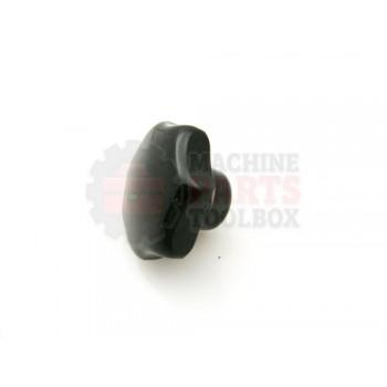 Lantech - Knob Star M8 Threaded Hole Black Plastic - 000564A