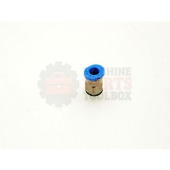 Lantech - Fitting Pneumatic Straight M5 Thread 4MM Tube Push - 000651B