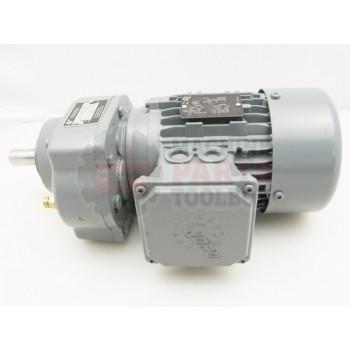 Lantech - Gearmotor 0.25KW 230/460VAC 3PH 1.13/0.65A 134RPM Output Parallel Shaft Face Mount - 000873A