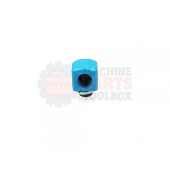 Lantech - Fitting Pneumatic Elbow G1/8 Male G1/8 Female Blue Anodized Aluminum (G-1/8-A/I) - 001356A