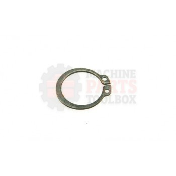 Lantech - Snap-Ring External For 20MM Shaft X 1.2MM Thick Black Phosphate Steel DIN471 - 001593A