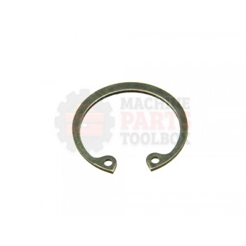 Lantech - Snap-Ring Internal For 28MM Bore X 1.2MM Thick Black Phosphate Steel DIN472 - 001626A